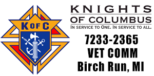 K of C Assembly 7233-2365 VET COMM, Birch Run, MI